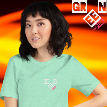 HEATHER PRISM MINT - GREEN by PINK t-shirt