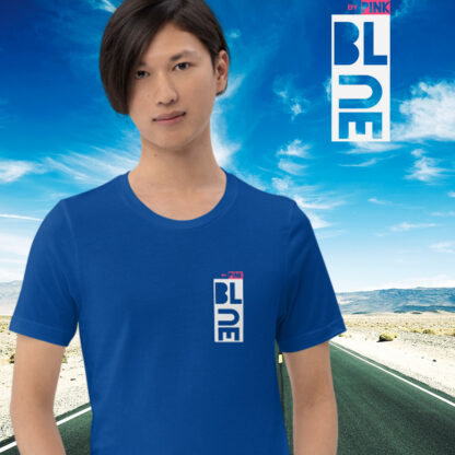 TRUE ROYAL BLUE T-SHIRT - PINK THE COLLECTION
