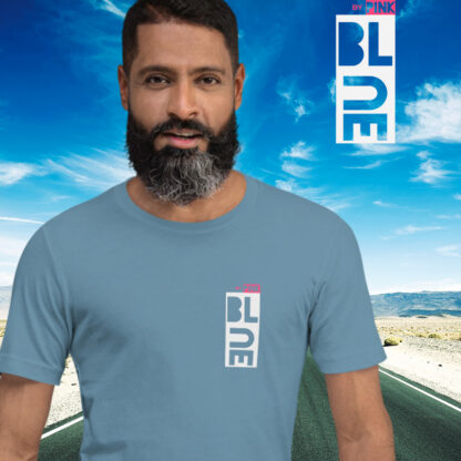 BLUE STEEL T-SHIRT - PINK THE COLLECTION